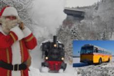 Sankt Nikolaus Dampfzug Nikolausfahrt Oldtimer Postbus / Postauto im Bergischen Land Xmas Tour in Vintage Bus and Steam Train - also for Wedding Birthday Incentive Business