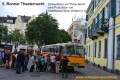 Oldtimer-Postauto-Bus Saurer/Tüscher 3DUK-50 ex P-24660 von www.schwyzer-poschti.de vor der Bonner Hauptpost, Bonner Tüheaternacht (7.2011 - Foto: Eltgen) Städte: Bonn / Köln / Düsseldorf / Düren / Brhl / Koblenz / Andernach / Bergisch Gladbach / Rösrath