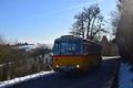 Oldtimer-Postauto-Bus Saurer/Tüscher 3DUK-50 ex P-24660 von www.schwyzer-poschti.de - Winterstimmung in Wippenhohn - Söven - Hennef (12.2017 - Foto: Schwyzer Poschti)